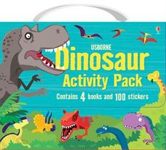 "The Dinosaur Activity Pack - 4 books for just $14.99! ""This fun gift pack comes in a carrying case with Velcro enclosure, and includes four dinosaur titles full of puzzles, games, stickers and coloring activities sure to delight!"" Browse more of our Activity Packs at http://m3001.myubam.com/c/117/activity-packs"