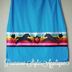 Women's Ribbon Skirt size L/XL. inbox for details. #powwowstylesapplique