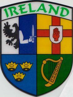 munster province ireland | Ireland Connaught Leinster Munster Ulster Flag Car Sticker - Shield