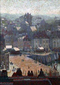 Le quai ensoleillé, Dieppe by Charles Ginner.  ca.1911 Oil