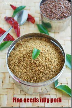 7aum Suvai: Flax seeds idly podi
