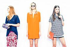 New York fashion week: J Crew unveils its spring/summer 2014 . Comfy Dresses, Spring 2014, Summer 2014, Spring Summer, Orange Dress, Spring Fashion, Summer Outfits, Dress Up, Short Sleeve Dresses