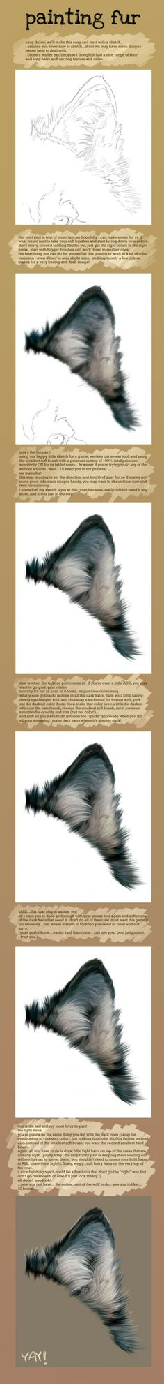 tutorial digital painting Painting Fur by novawuff [dA] Digital Painting Tutorials, Digital Art Tutorial, Art Tutorials, Drawing Tutorials, Painting Fur, Painting & Drawing, Drawing Fur, Purple Painting, Painting Tips