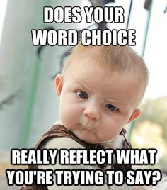 Does your word choice really reflect what you're trying to say?