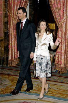 Crown Prince Felipe & Letizia Cervantes awards lunch 2006