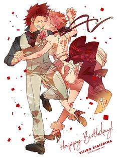 Characters: Kirishima Eijirou, Ashido Mina
