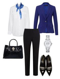 Сочетание синего и чёрного цвета в одежде
