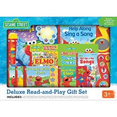 Sesame Street Deluxe Read-and-Play Gift Set