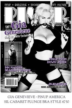 We ran into Gia Genevieve at Viva Las Vegas -16 (April 2013)and offered a few Secrets In Lace underpinnings for her to wear - looks like Gia has put them to good use for the cover shot of Pinup America Magazine!