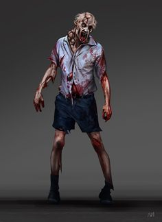 ArtStation - Last Day on Earth zombie concept art, Nagy Norbert Zombie Pose, Games Zombie, Zombie Art, Last Day Of Earth, Apocalypse Art, Dark Warrior, Walking Dead Zombies, Digital Painting Tutorials, Cthulhu