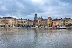 A view of Stockholm (Sweden), looking towards the 'Tyska Kyrkan' (German Church) on Stadsholmen Island.  Buy prints/posters at http://www.redbubble.com/people/pixog/works/10782138