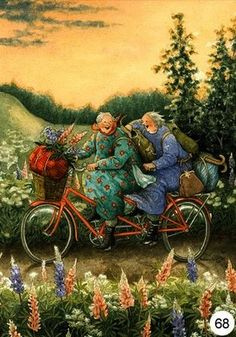 Wholesale Fantasy Greeting Cards and Postcard from Inge Look,Amy Brown, Nene-Thomas, Kinuko Craft ,Linda Ravenscroft . Old Lady Humor, Celtic Symbols, Joy And Happiness, Whimsical Art, Pics Art, Watercolor Illustration, Old Women, Cartoon Art, Art Girl