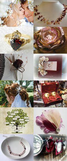 Burgandy Metallic Autumn Wedding  by Marilyn on Etsy--Pinned with TreasuryPin.com