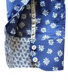 1 ...Like No Other Navy Floral 2530S Shirt - 1 ...Like No Other from Jonathan Trumbull UK