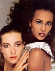 Tatjana Patiz and Iman,  1987 Revlon ad