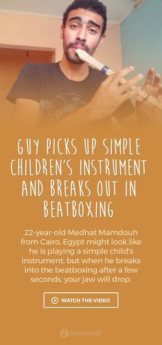 Guy Picks Up Simple Children's Instrument and Breaks Out in Beatboxing