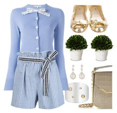 """Sunday blues"" by pensivepeacock ❤ liked on Polyvore featuring Emilio Pucci, Alexis Bittar, Olympia Le-Tan, Smith & Hawken, Miu Miu and Lemlem"