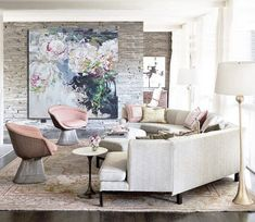 Resumen flores pintura al óleo sobre lienzo, Arte Original pintado por Xiang. -Celine Ziang arte