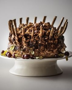 Shop Stuffed Pork Crown Roast, For 20 People at Horchow, where you'll find new lower shipping on hundreds of home furnishings and gifts. Crown Roast Recipe, I Love Food, Good Food, Roasted Meat, Holiday Recipes, Holiday Meals, Stuffed Pork, Caramel Apples, Gourmet
