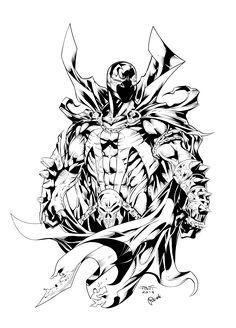 Spawn Drawing Line Art Sketch PNG - art, black, black and white, comics, comics artist Batman Drawing, Marvel Drawings, Batman Artwork, Comic Books Art, Comic Art, Spawn Comics, Univers Dc, Sketch Tattoo Design, Arte Cyberpunk