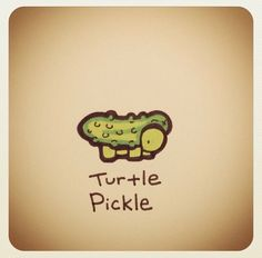Turtle Pickle by Cute Turtle Drawings, Easy Drawings, Tiny Turtle, Turtle Love, Cute Turtles, Baby Turtles, Cartoon Drawings, Animal Drawings, Sheldon The Tiny Dinosaur