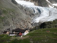 Taschachhaus and Taschachferner, Tirol Austria