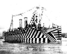 dazzle camouflage: Was supposed to make your eyes take longer to focus on where and how far away the ships were