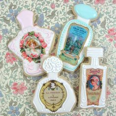 Perfume bottle labels for cookies wafer paper