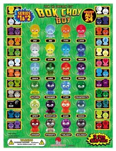 Amazon.com: Bok Choy Boy 2 Set Combo - Series 1 and Series 2 - Lot of 24 Toys Total - Party Favors- 2 Complete Sets: Toys & Games