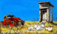 Art by Stella Sketch Painting, Watercolor Paintings, List Of Paintings, Oil Paintings, Stella Art, Red Truck Decor, Summer Painting, Autumn Painting, Old Barns