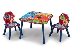 Children Table And Chairs Set Paw Patrol Toddlers Boys Nursery Furniture Bedroom