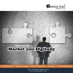 #DigitalMarketingCompany Looking for new ways to market your #Business digitally! Hire #Aspiringteam and we will serve you from #WebDesign & development to your every need of #DigitalMarketing including SEO, SMO, PPC and SMS. Backed by team members and technology, we will help you to get your desired results in your marketing campaign. Click here: aspiringteam.com