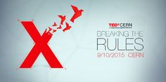 TEDxCERN Breaking the Rules   Theme logo   Red and flying origami birds