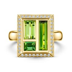 JEWELLERY FOR HER ANDREW GEOGHEGAN Envy green tourmaline cocktail ring £ 5,000