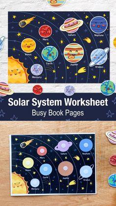Solar System Worksheets, Solar System Activities, Solar System For Kids, Space Activities For Kids, Solar System Crafts, Preschool Learning Activities, Play Based Learning, Learning Games, Fun Activities