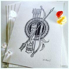 """""""Ἔρως - FERRAMENTAS DO DEUS EROS"""" Arte encomendada para tattoo, destino: Salvador-BA. Encomendas/orçamentos através do e-mail: notovic@gmail.com"""