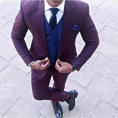 Purple Men Suit www.ScarlettAvery.com