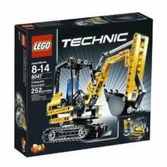 LEGO TECHNIC Mini Excavator 8047 by LEGO. $69.99. Use the control knobs to operate the articulated arm and shovel. 252 pieces. 2 models in 1. Features working belt treads and 360 degree spinning cabin. Rebuilds into a material handler. From the Manufacturer                Make quick work of tough digging jobs with the Compact Excavator.   Drive around the job site on working belt treads, and use the control knobs to operate the articulated arm and shovel like a pro. C...