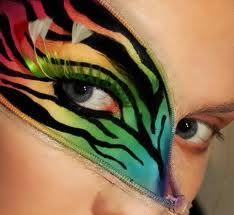 Lisa frank inspired eye makeup design