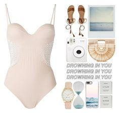 """Pearl"" by pleasantlyvacant ❤ liked on Polyvore featuring Polaroid, Hollister Co., Cult Gaia, SONOMA Goods for Life, Casetify, Byredo, Nine West and La Perla"