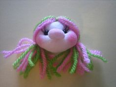 broche muñeca soft rosa y verde