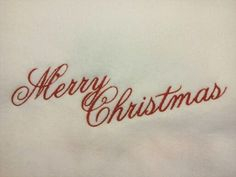 Merry Christmas Machine Embroidery Design