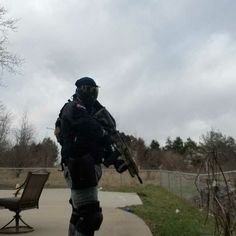 My magfed paintball loadout with custom 468 again Paintball