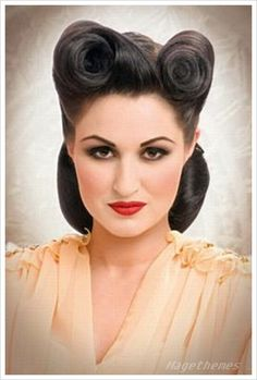 50's hair pin up - Google Search