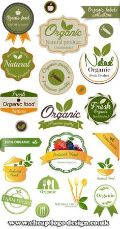 organic logo and label ideas www.cheap-logo-design.co.uk #organiclabel #organic #organiclogo