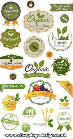 organic logo and label ideas www.cheap-logo-design.co.uk #organiclabel #organic #organiclogo