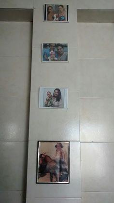 Uma coluna que estava tristinha agora com fotos da familia 💕💕💕