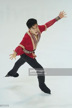 News Photo : Nathan Chen of United States competes during...