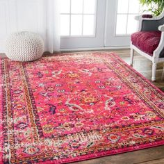 Vintage Decor Living Room nuLOOM Traditional Vintage Floral Distressed Pink Rug (Pink), Size x - Nuloom, Room Design, Traditional Decor, Machine Made Rugs, Home Decor, Rugs, Beautiful Rug, Pink Area Rug, Rugs In Living Room