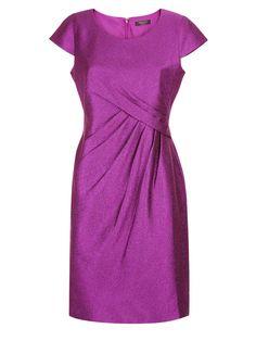 Petite Purple Crinkle Shift Dress